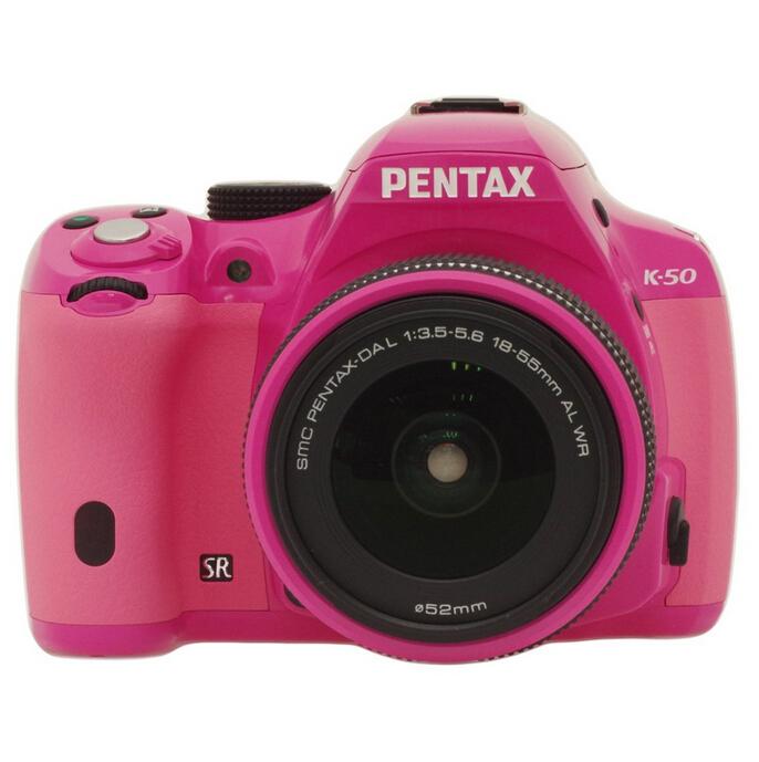 新低价:PENTAX 宾得 K-50 DAL 18-55mm WR防水镜头单反套机 粉粉色